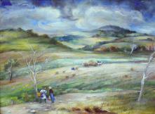 Rural Pennsylvania Scene by Grace Gemberling