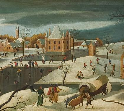 Folk Townscape After Pieter Breugel