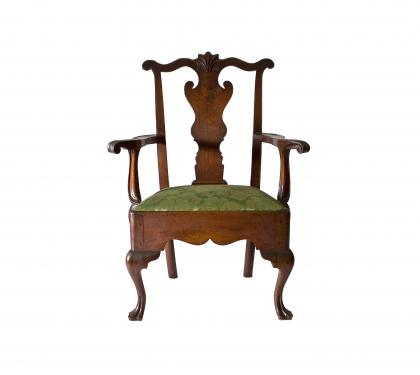 Walnut Queen Anne Armchair (SOLD)