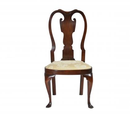 Walnut Queen Anne Balloon Seat Side Chair (SOLD)