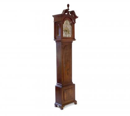 Very Rare Walnut Chippendale Tall Case Clock