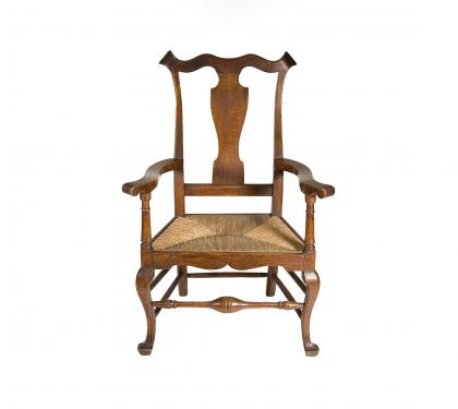 Rare Maple Queen Anne Armchair