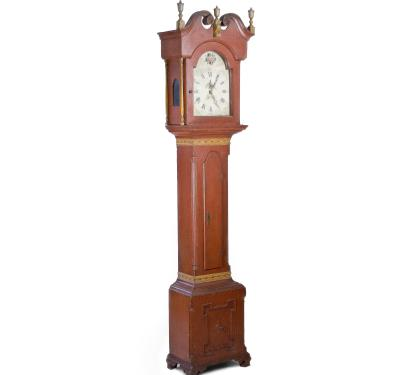 Impressive Painted Tall-case Clock