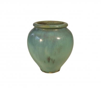 Blue-Green Glazed Urn by Galloway Terracotta Company (SOLD)