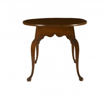 Very Rare Walnut Chippendale Circular Tavern Table