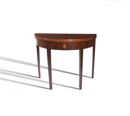 Walnut Hepplewhite Card Table