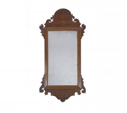 Walnut Chippendale Mirror