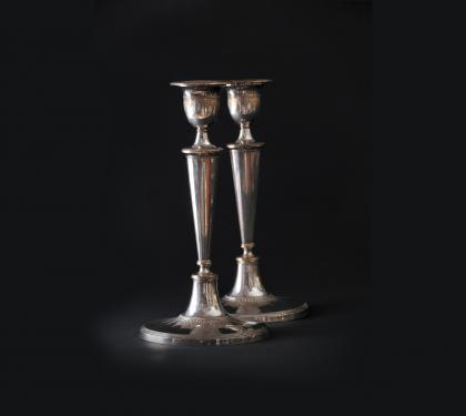 Pair of Sheffield Silver Plated Candlesticks (SOLD)