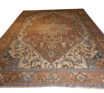 Antique Serapi Oriental Carpet