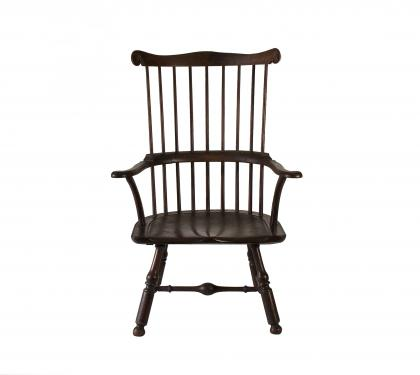 Rare and Impressive Walnut Windsor Arm Chair (SOLD)