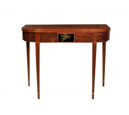 A Rare Mahogany Hepplewhite Card Table