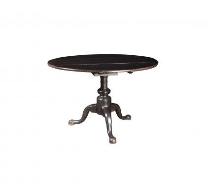 Unusual Dark-Brown Painted Tea Table
