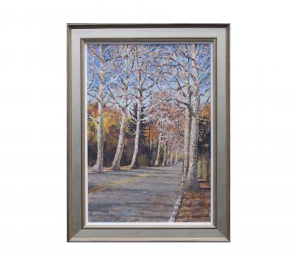 "Acrylic on Linen Panel Entitled ""North High Canopy"" by John Suplee"