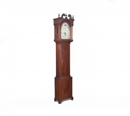 Walnut Tall Case Clock by Jonas Alrichs