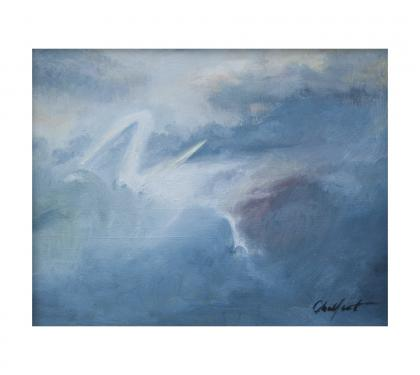 "Oil on Board Entitled ""Zephyr"" by Richard Chalfant"
