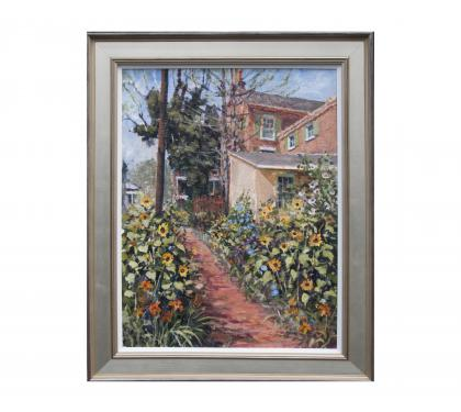 "Acyrlic on Panel Entitled"" Sidewalk Garden"" by John Suplee"