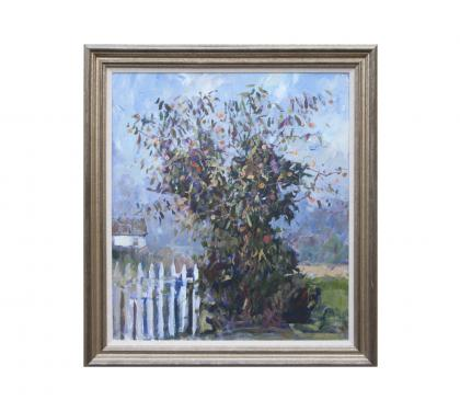 "Acyrlic on Panel Entitled"" Persimmon Tree Cape, May Point "" by John Suplee"