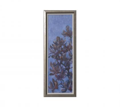 "Acrylic on Panel Entitled ""Night Magnolia Kakemono"" by John Suplee"