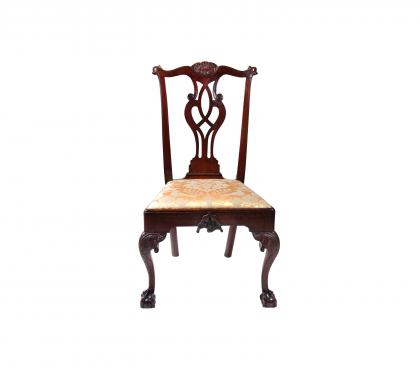 Walnut Chippendale Side Chair (SOLD)