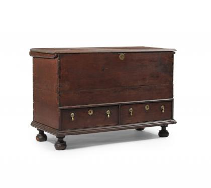 Rare Walnut William & Mary Blanket Chest
