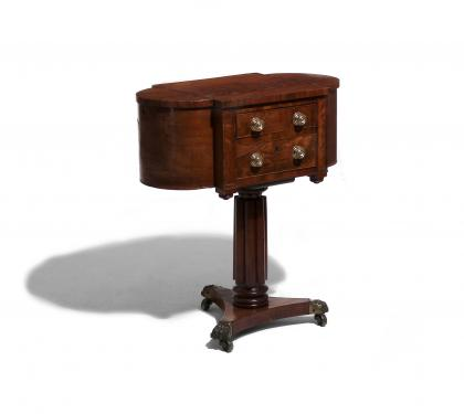 Mahogany Federal Sewing Table