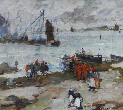 Oil on Canvas of Brittany Coast