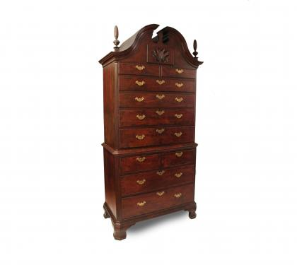 Rare Walnut Chippendale Chest on Chest (SOLD)