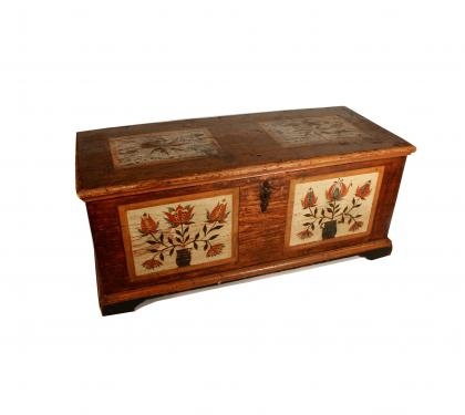 Rare Painted Blanket Chest
