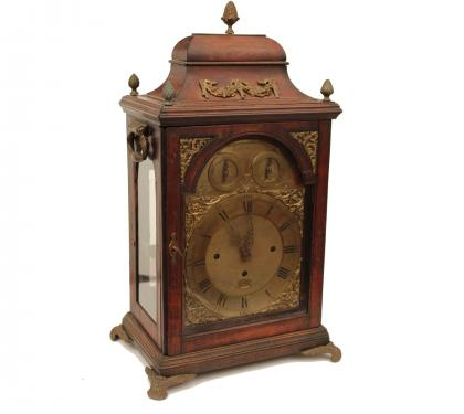 Fruit Wood Chippendale Rare Musical Bracket Clock