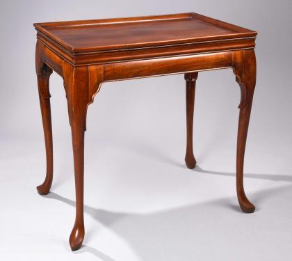 English or Irish Mahogany Tray Top Tea Table