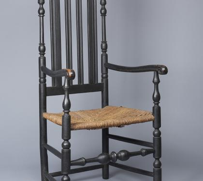 Very Rare Maple Bannister Back Arm Chair