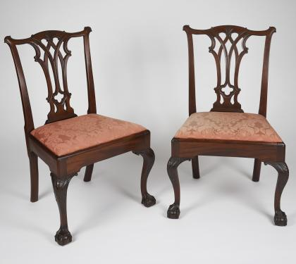 Pair of Mahogany Chippendale Chairs (SOLD)