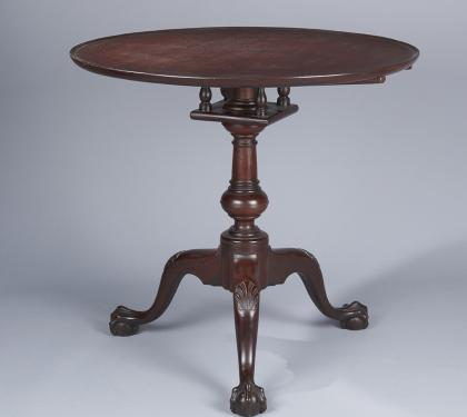 Mahogany Chippendale Dish Top Tea Table