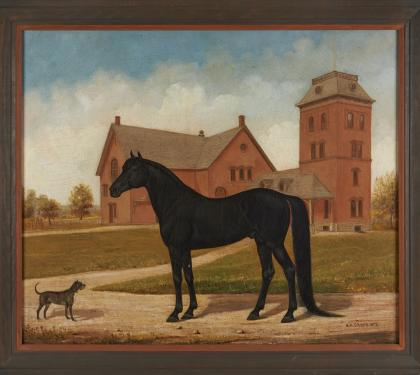 Henry Cross Painting of Stallion