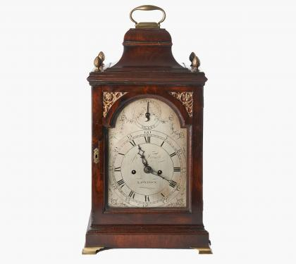 James Forsyth Mahogany Chippendale Mantle Clock
