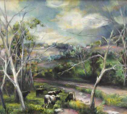 Oil on Canvas Landscape by Grace Gemberling Keast