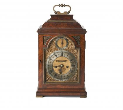 Walnut Queen Anne Bracket Clock by Charles Goode