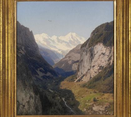 Lauterbrunnen Valley by Herman Ottomar Herzog (SOLD)