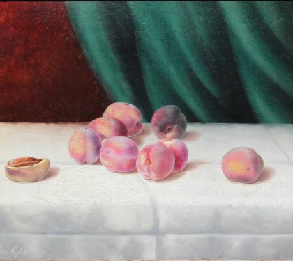 Still Life Painting of Peaches by George Cope
