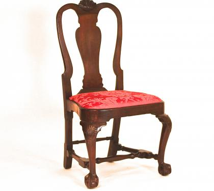 Mahogany Queen Anne Balloon Seat Side Chair