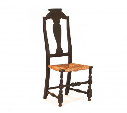 Extremely Rare William and Mary Side Chair