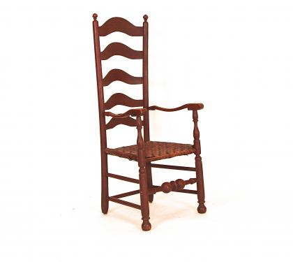 Very Tall Five-Slat Ladderback Arm Chair