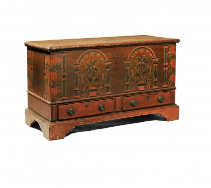 Rare & Vibrant Painted Blanket Chest