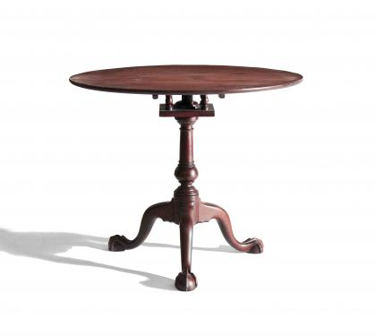 Bold Chippendale Mahogany Tea Table