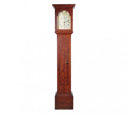 Painted Hepplewhite tall case clock