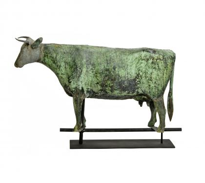 Copper & Zinc Cow Weathervane (SOLD)