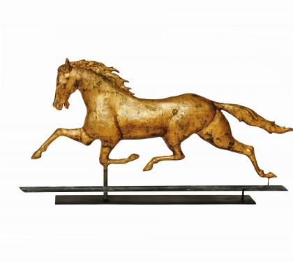 Copper and Zinc Patchen Horse Weathervane