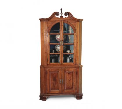 Walnut Chippendale Corner Cupboard (SOLD)