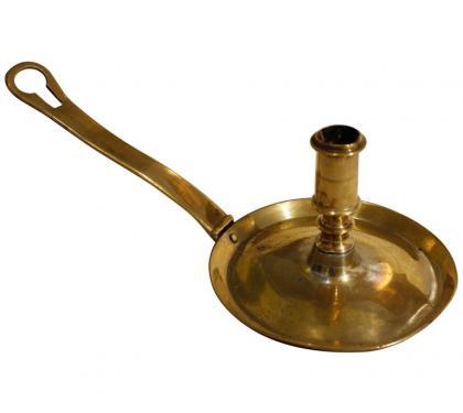 18th Century Brass Spanish Frying Pan Stick