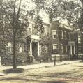 Starbuck houses, the Three Bricks, 97 Main Street, 95 Main Street and 93 Main Street. From MS35, Henry Barnard Worth Collection.